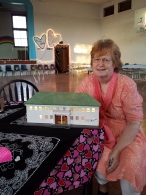 Bonnie Hollingsworth with scale model