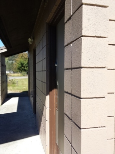 Outdoor Restrooms Painted