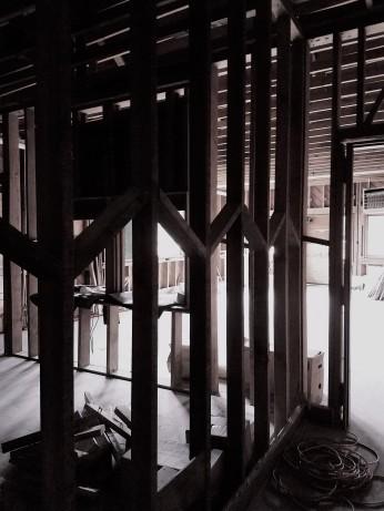 Interior walls kitchen & workroom